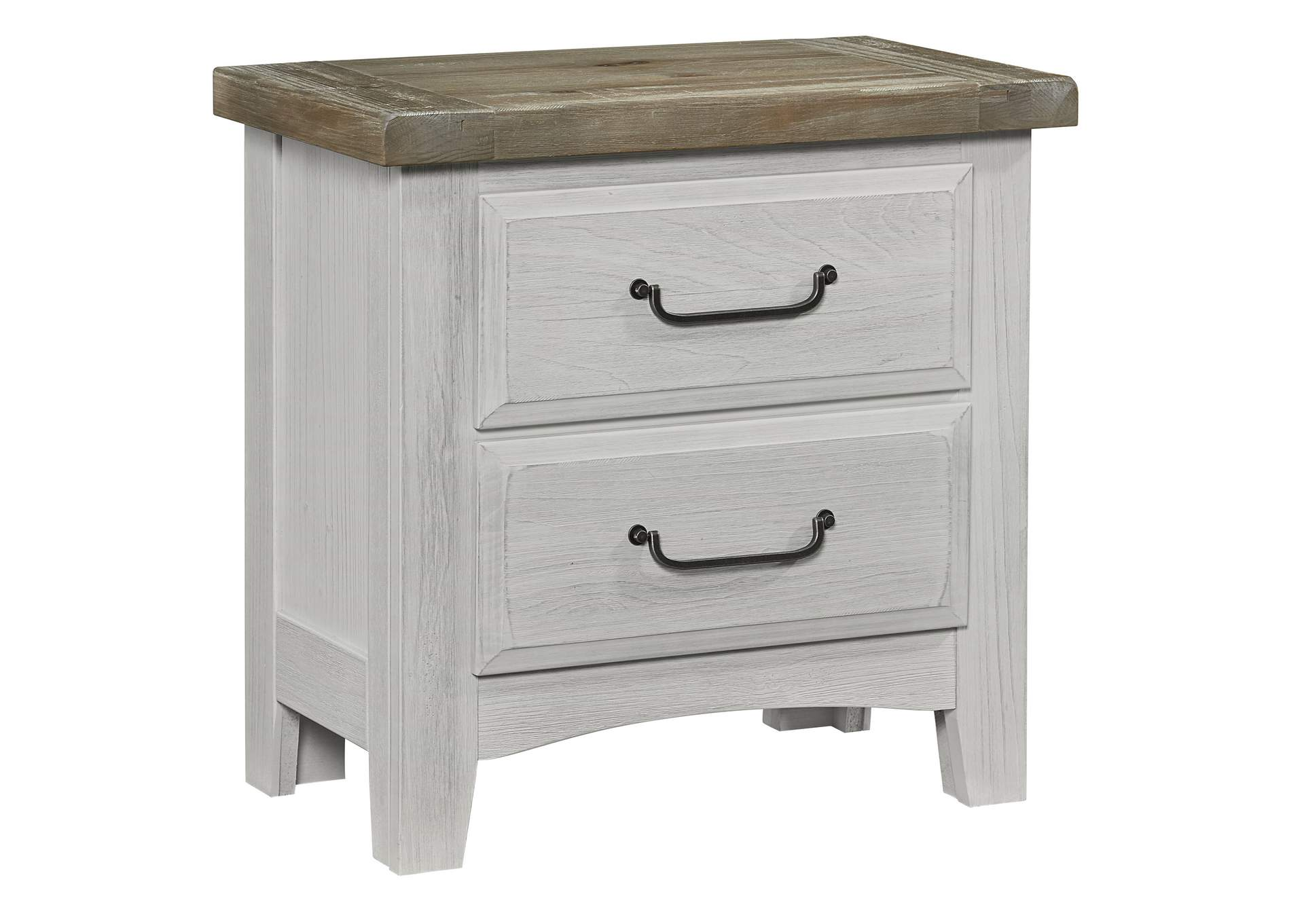 694 - Sawmill Alabaster Two Tone Night Stand - 2 Drawer,Vaughan-Bassett