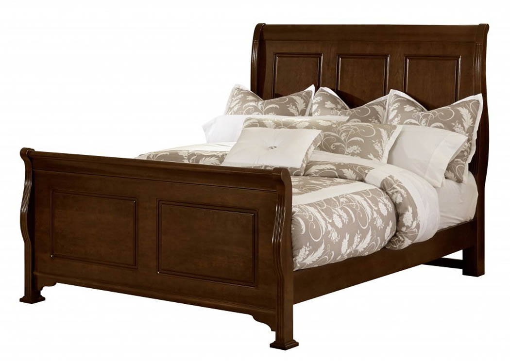 French Market French Cherry Sleigh King Bed,Vaughan-Bassett