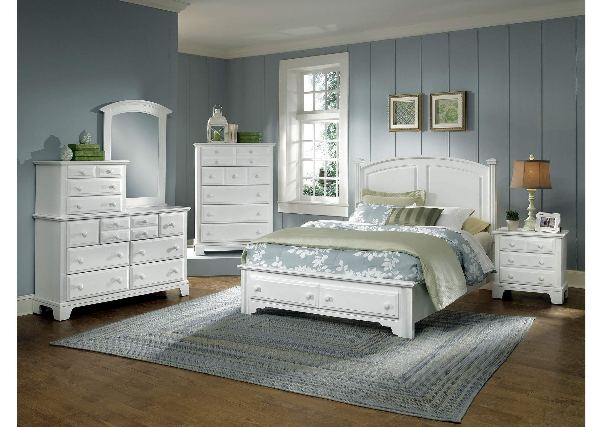 BB6 - Barnburner 6 Snow White Chest - 5 Drawer,Vaughan-Bassett