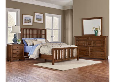 Image for Artisian Choices Slat Queen Bed w/Dresser and Mirror