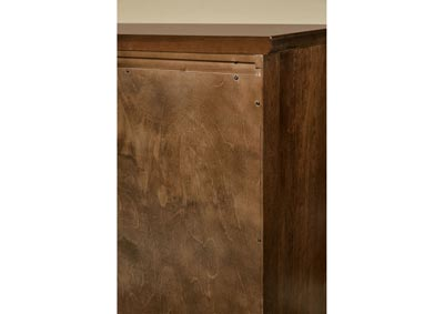 101 - Artisan Choices Rustic Cherry Villa Chest - 5 Drawer,Vaughan-Bassett
