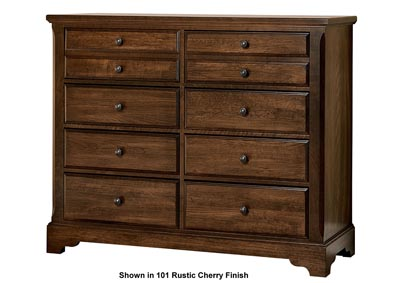 104 - Artisan Choices Dark Cherry Villa Media Dresser - 8 Drawer