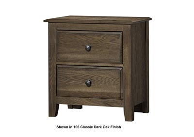 105 - Artisan Choices Natural Oak Loft Night Stand - 2 Drawer
