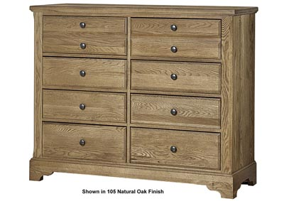 106 - Artisan Choices Dark Oak Villa Media Dresser - 8 Drawer