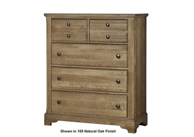 106 - Artisan Choices Dark Oak Villa Chest - 5 Drawer,Vaughan-Bassett