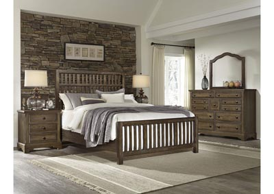Artisan Choices Shadow Villa Triple Dresser - 9 Drawer w/Landscape Mirror,Vaughan-Bassett
