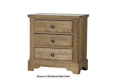 106 - Artisan Choices Dark Oak Villa Night Stand - 3 Drawer,Vaughan-Bassett