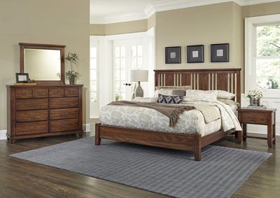 American Amish Cherry Queen Platform Bed,Vaughan-Bassett
