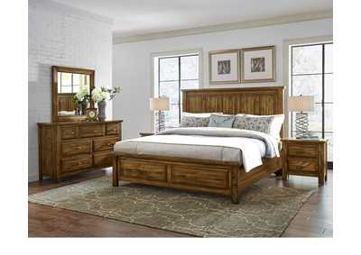 Maple Road Headboard & Storage Footboard 5/0 w/Dresser and Mirror,Vaughan-Bassett