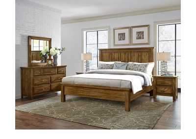 Maple Road Headboard 6/6 w/Dresser and Mirror,Vaughan-Bassett