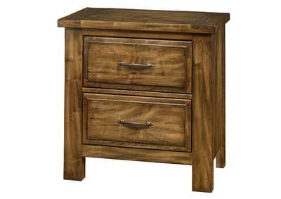 Maple Road Antique Amish  Night Stand - 2 Drawer,Vaughan-Bassett
