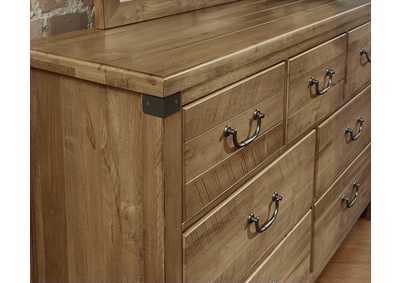 122 - Sedgwick Natural Maple Triple Dresser - 7 Drawer,Vaughan-Bassett