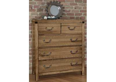 122 - Sedgwick Natural Maple Standing Chest,Vaughan-Bassett