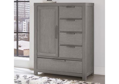 Image for American Modern Grey Armoire