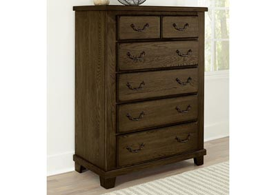 American Oak Molasses Oak 6 Drawer Chest,Vaughan-Bassett