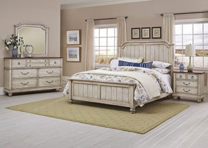 Image for Arrendelle Driftwood King Panel Bed w/Dresser and Mirror