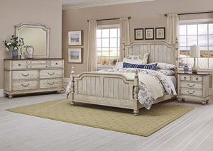 Image for Arrendelle Driftwood King Poster Bed w/Dresser and Mirror