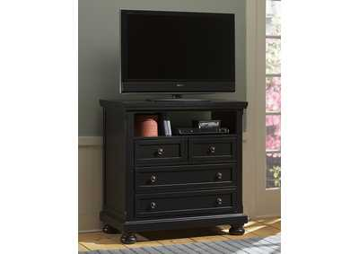 Image for 534 - Reflections Black Entertainment Center - 4 Drawer