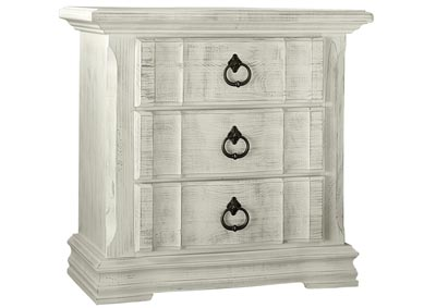 684 - Rustic Hills White Night Stand - 3 Drawer,Vaughan-Bassett