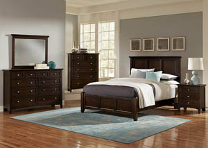 Image for Bonanza Merlot King Panel Bed w/Dresser and Mirror
