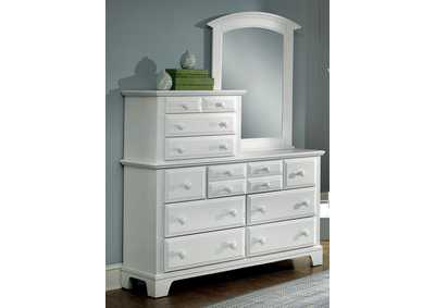BB6 - Barnburner 6 Snow White Vanity Dresser - 10 Drawer,Vaughan-Bassett