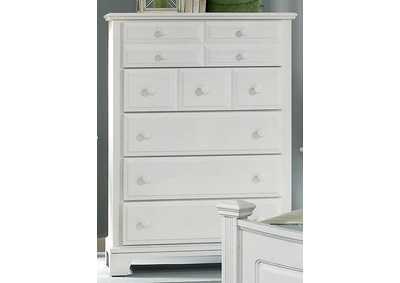 Barnburner 6 Snow White  Chest - 5 Drawer,Vaughan-Bassett