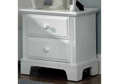 BB6 - Barnburner 6 Snow White Night Stand - 2 Drawer,Vaughan-Bassett
