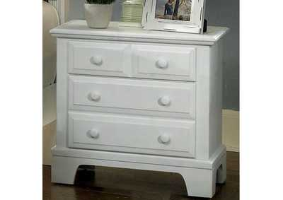 Barnburner 6 Snow White  Night Stand - 2 Drawer,Vaughan-Bassett