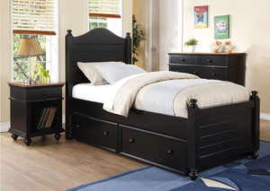 "Image for Quails Run - Ebony 21"" 1-Drawer Youth Nightstand"