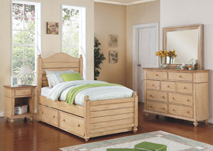 "Image for Quails Run - Wheat 21"" 1-Drawer Youth Nightstand"