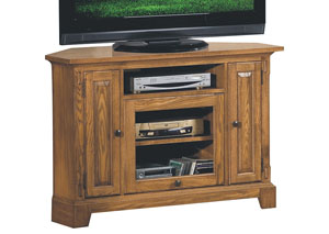 "Image for Zahara - Light Oak 47"" Corner Media Base"