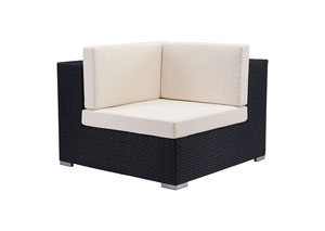 Image for Cartagena Black Outdoor Weave Corner Chair