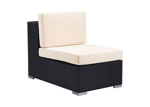 Image for Cartagena Black Outdoor Weave Armless Chair
